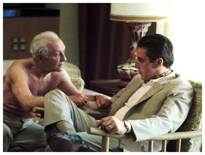 Hyman Roth (Lee Strasberg) and Michael Corleone (Al Pacino) © Paramount Pictures