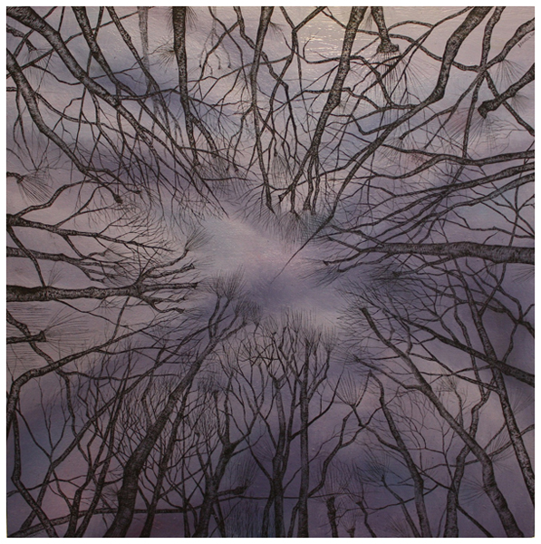 Trees in the sky #3: Black eye, purple sky (2011) © Darragh Powell