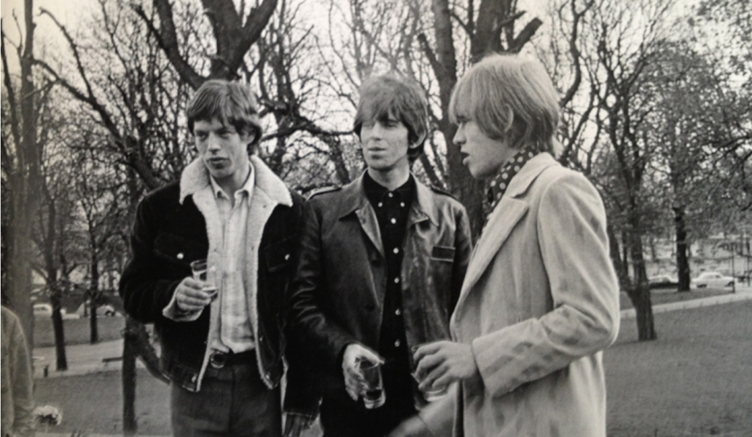 Mick Jagger, Keith Richards & Brian Jones of The Rolling Stones © Roger Kasparian