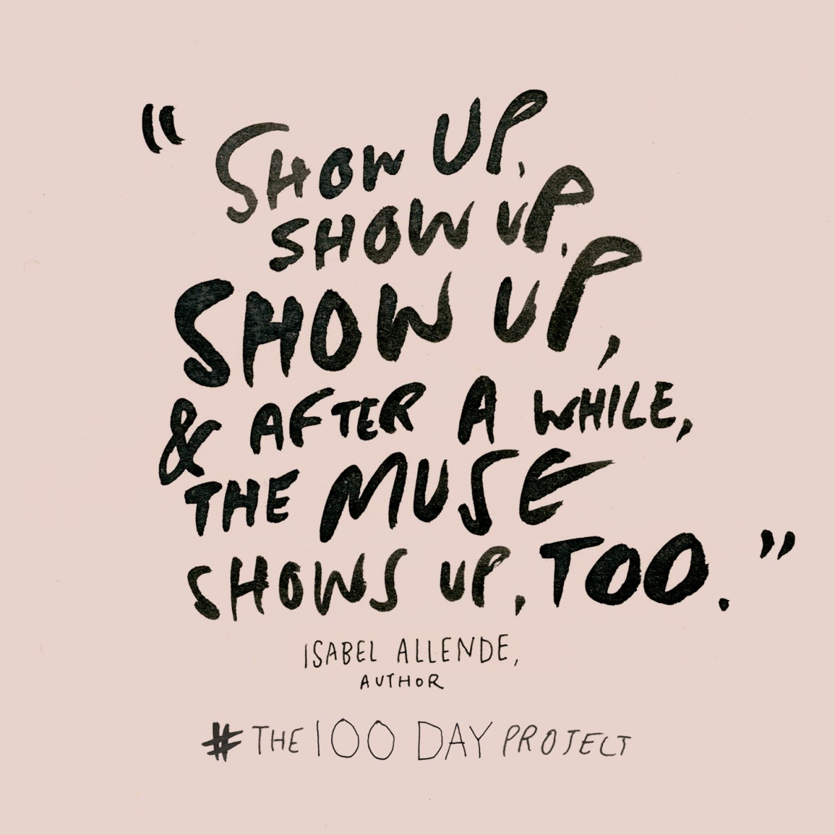 #The100DayProject © Elle Luna