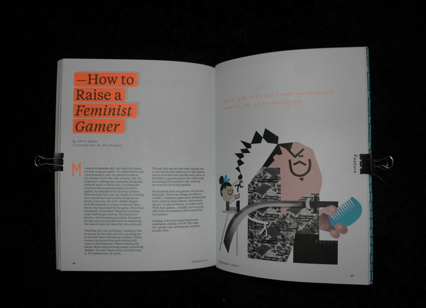 How to Raise a Feminist Gamer by Effie Woods © The Eighty-Eight Journal Vol. 2