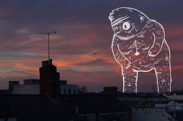 Ghost over Cheltenham © Iselle Maddocks