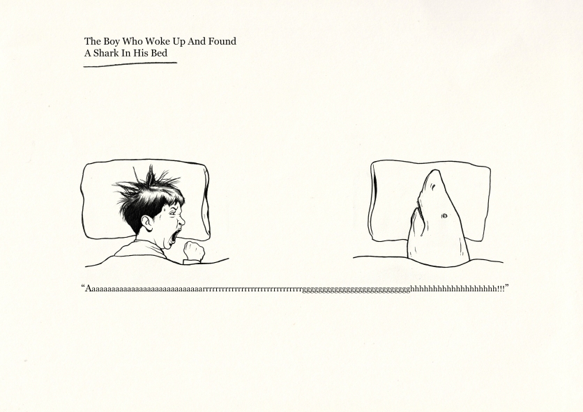 The Boy Who Woke Up And Found A Shark In His Bed © Marco Bevilacqua