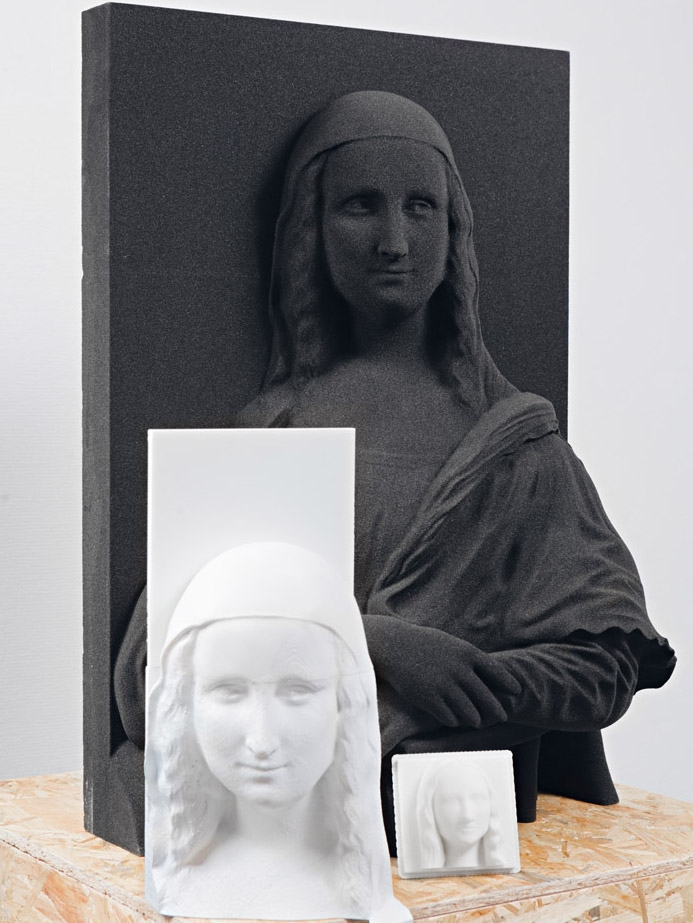 Mona Lisa 3D replica #3 © Unseen Art