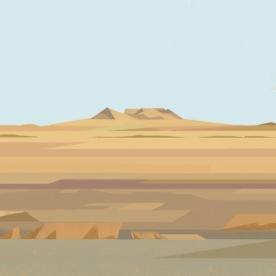 Illustrations of random places on google maps #28: Mongolia © Mark Boardman