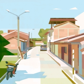 Illustrations of random places on google maps #34: Colombia © Mark Boardman