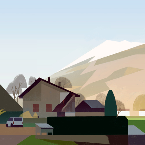 Illustrations of random places on google maps #46: France © Mark Boardman